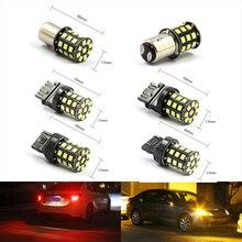 BAY15D 1157 1156 7443 3157 Vermelho Branco AX-2835 SMD LED Car Brake Cauda Turn Signal Lâmpadas