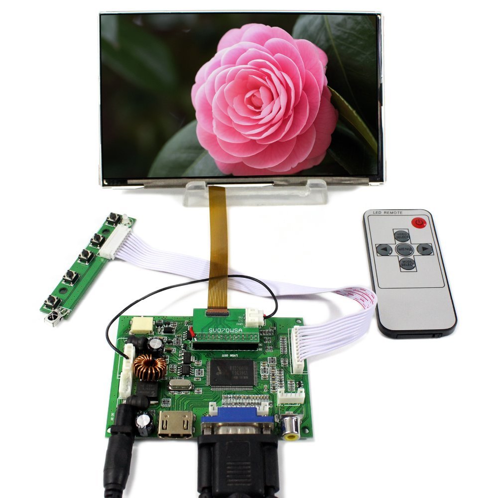 HDMI VGA 2AV LCD Controller Board 7inch 1024X600 HV070WSA -100 IPS LCD Screen a 7inch lcd screen hv070wsa 100 1940 hv070wsa 100 hv070wsa for p1000 p6200 p3100 p3110 tablet pc