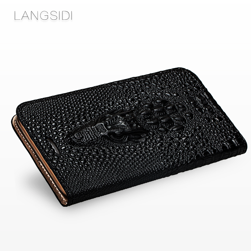 Image 4 - wangcangli brand mobile phone shell crocodile head clamshell phone case For iPhone X leather phone case full hand made-in Flip Cases from Cellphones & Telecommunications