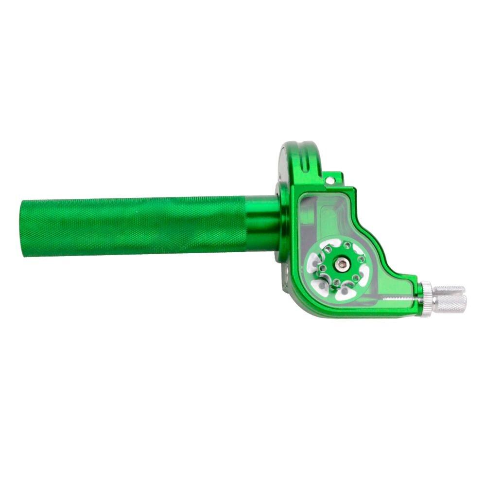 GOOFIT CNC poignée universelle en aluminium poignées Tube d'accélérateur manchon pince de torsion pour vélo de saleté moto Scooters vert H053-706