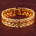 Copper 18 k 001gold plated bracelet jewelry fashionable man gold bracelet