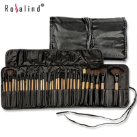 Stock Clearance Rosalind 32Pcs Makeup Brushes Professional Cosmetic Make Up Brush Set The Best Quality