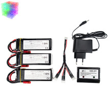 Walkera QR X350 PRO Lipo battery 2 or 3pcs and charger with cable 11.1V 5200Mah 3S 15C  RC Drone Quadcopter parts