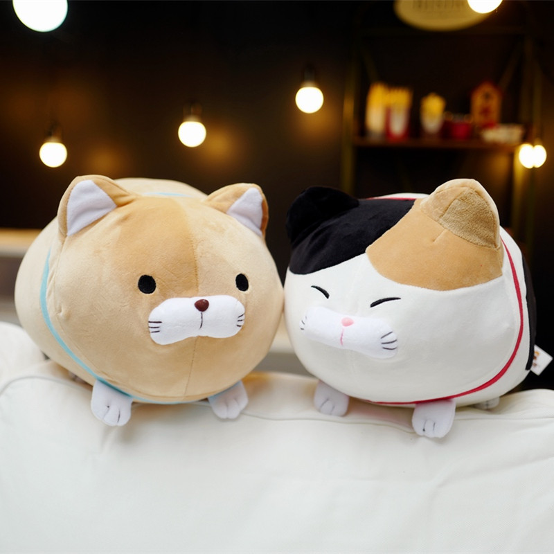 1pc 40/50cm Japan Amuse Fortune Cat Lucky Cats Plush Toy Stuffed Kids Doll Beard Blessing Cat Pillow Cartoon Soft Animal Toy japan creative alice back big cat plush toy cat pillow sofa cushion car decoration cat stuffed animal doll