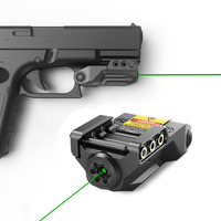 Laserspeed Drop shipping subcompact laser usb rechargeable pointer for pistol green laser pointer mira laser para pistola