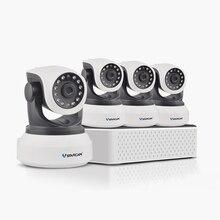 VStarcam 1 NVR 4CH + 4 ШТ. C78242WIP HD Беспроводная IP-КАМЕРА камера Ик-cut Ночного Видения Аудио Запись Сеть ВИДЕОНАБЛЮДЕНИЯ Onvif Крытый IP