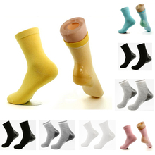 1 Pair Gel Moisturizing Foot Socks Women Cotton Solid Heel Thickening