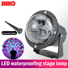 High quality LED waterproof stage projection lamp RGB effect lamp EU/US plug bar dance scene lighting cool projector lights aluminum shell led snowflake star patterns landscape projector christmas projection lamp for us uk eu plug drop shipping