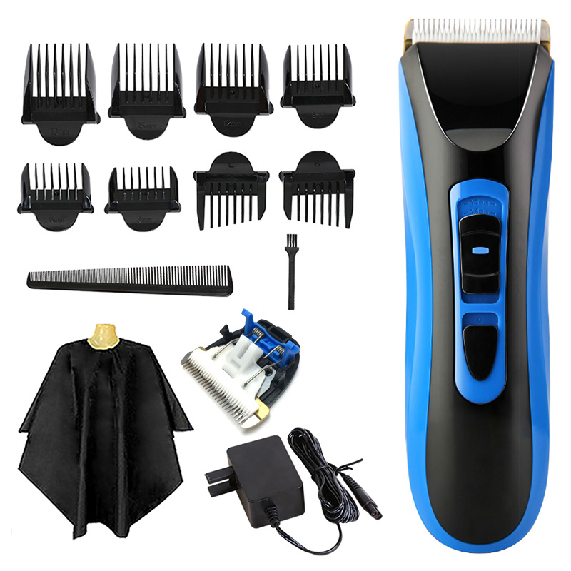 Tondeuse à cheveux Rechargeable tondeuse à cheveux professionnelle avec lames en céramique IPX7 imperméable Li batterie électrique coupe de cheveux RE-750A