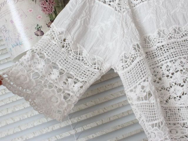 2020 Summer Lace Womens Tops and Blouses Camisa Feminina Blusa Mujer Chemise Femme Korean Blouse Shirt Women Sun Protection Hot 3