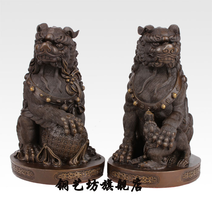 Gallery Opening The Light Pure Copper Lion Goods Furniture For Display Rather Than For Use Pair Tuba Beijing Lion Palace GateGallery Opening The Light Pure Copper Lion Goods Furniture For Display Rather Than For Use Pair Tuba Beijing Lion Palace Gate
