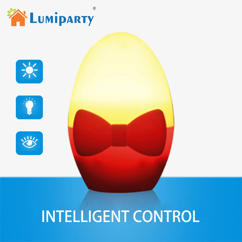 LumiParty Smart Light Sensor LED Night light 110V-220V Auto Sensor lamp For Kids Cute Golden Egg Baby Light For Bedroom