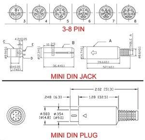 2 шт. для пайки кабелей Mini DIN Коннектор s-видео терминал круговой 3/4/5/6/7/8 штырь мужской/женский с пластиковым адаптер рукоятки