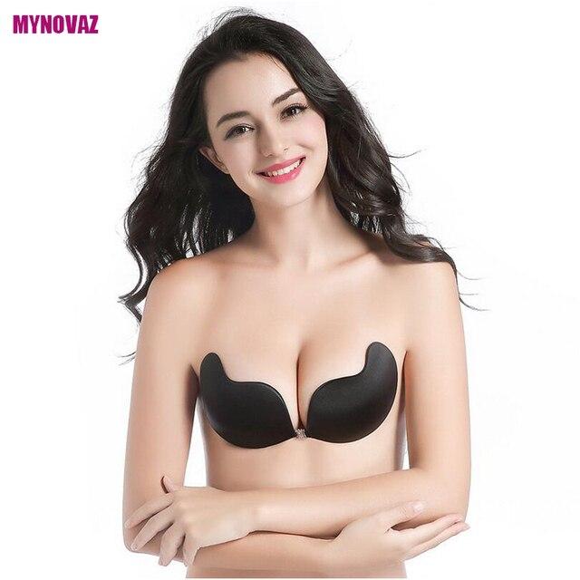 MYNOVAZ-Femmes Nouvelle Mode Pop Sexy Sans Bretelles Invisible Push Up  Soutien-Gorge Papillon f94f3d90a4f