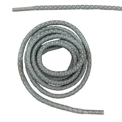 """Круглая веревка 3м Светоотражающие шнурки для ботинок бегуна видимые безопасные шнурки 14 цветов 4"""" /120 см - Цвет: silver grey"""