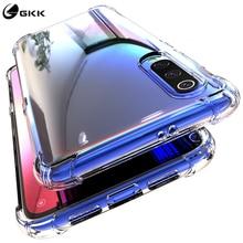 GKK Case for Xiaomi Mi 9 Transparent Reinforced Corner full protection Anti-knock TPU Soft Back Cover For mi
