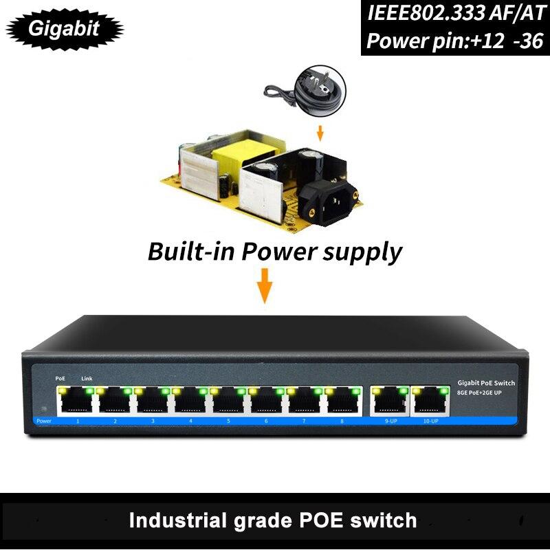 SZSSCEE Gigabit 10 port commutateur poe soutien Ieee802.3af/à caméras ip et point d'accès sans fil 10/100/1000 Mbps standard interrupteur réseau