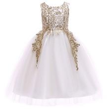 цена на Girls lol Dress Baby tutu Princess wedding Dresses for Toddler Girl White first Birthday Party Christening Gown Vestidos costume