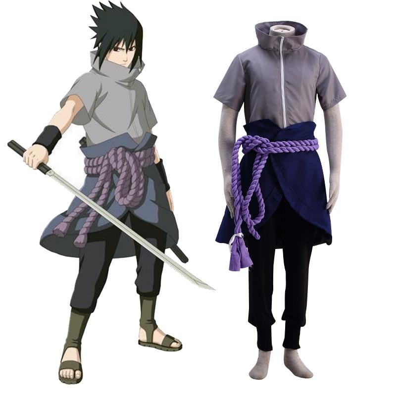 Anime Naruto Sasuke Uchiha Cosplay Costume Ninja Sasuke Uchiha 6th Halloween Party Cosplay Costume Custom Size For Halloween