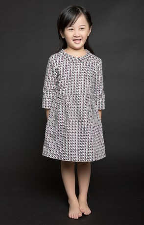 38e569178ca Brand new Children s girl s Bonpoint dimond plaid print 100% cotton 3 4  sleeve pocket with zipper one piece dress full line-in Dresses from Mother    Kids on ...
