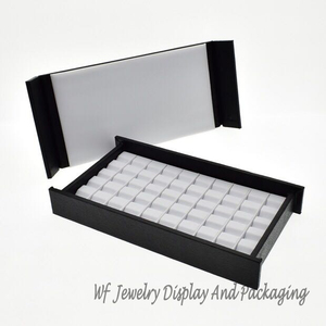 Image 2 - Superieure Lederen Mute Met Magneet Cover Diamond Display Lade Steen Storage Case Gem Box Sieraden Houder Edelsteen Organizer