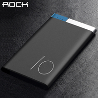 ROCK Ultrathin Polymer Power Bank Portable 5000 10000mAh Slim Metal Alloy Powerbank Bateria Externa Battery