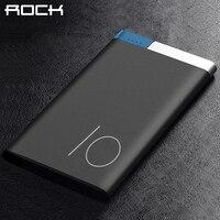ROCK Ultrathin Polymer Power Bank Portable 5000 10000mAh Slim Metal Alloy Powerbank Bateria Externa Battery