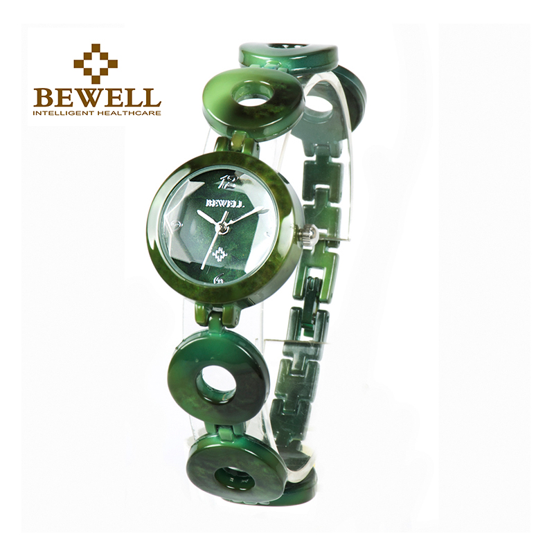 BEWELL  Women Stone Watches Girl Jewels Bangle Jewels & Stones Watch Ladies Wrist Jewelry Quartz Watch As Gift For Women 075A