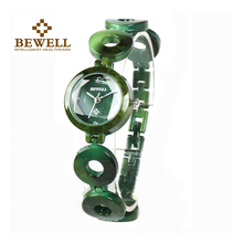 BEWELL  Women Stone Watches Girl Jewels Bangle & Stones Watch Ladies Wrist Jewelry Quartz As Gift for 075A
