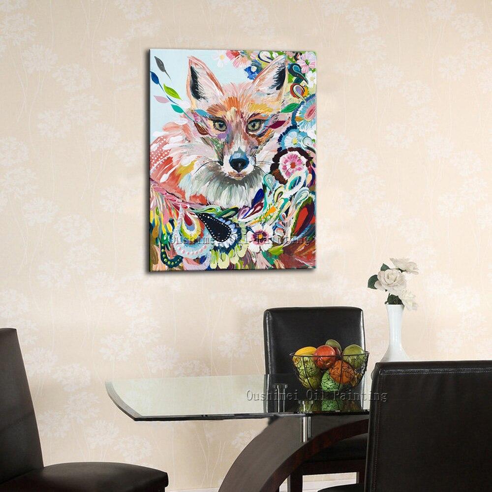 Картина маслом в рамке пять частей современные абстрактные цветочные картины для гостиной стены - 5