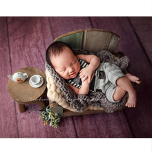 Newborn Props for Photography Mini Coffee Table Baby Photography Studio Accessories Cute Wood Small Chair Posing Prop Fotografia цена