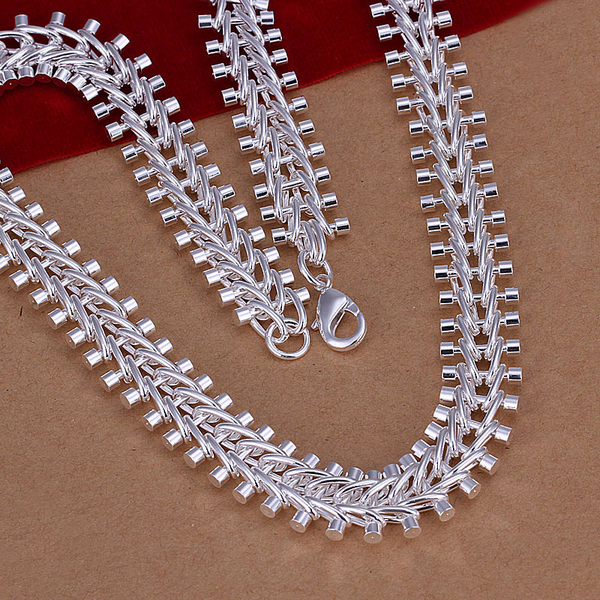 Men's 12mm 925 sterling silver necklace 18'' 45cm 72g solid snake chain n166 gift pouches