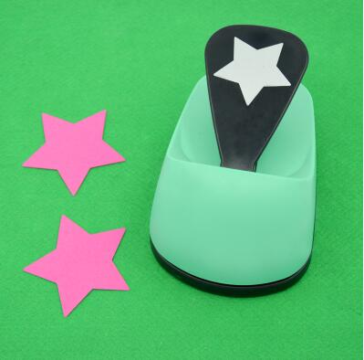 free shipping 3(7.6cm) lucky star shape EVA foam save power craft punch DIY puncher greeting card puncher Scrapbook puncher
