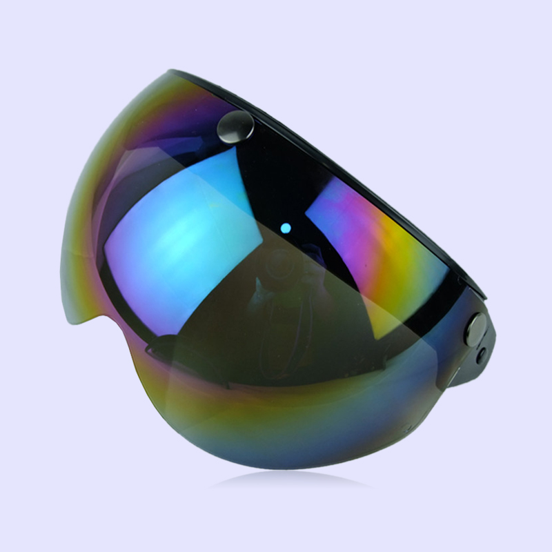 Motorcycle Helmet Lens Three Buckles Outdoor Sport Wear Resistance 3/4Helmet
