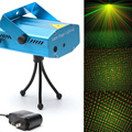 AOBO 150mW Red & Green Mini Laser Stage Lighting Projector M01,1 pattern, for Stage Pub Christmas Family Party