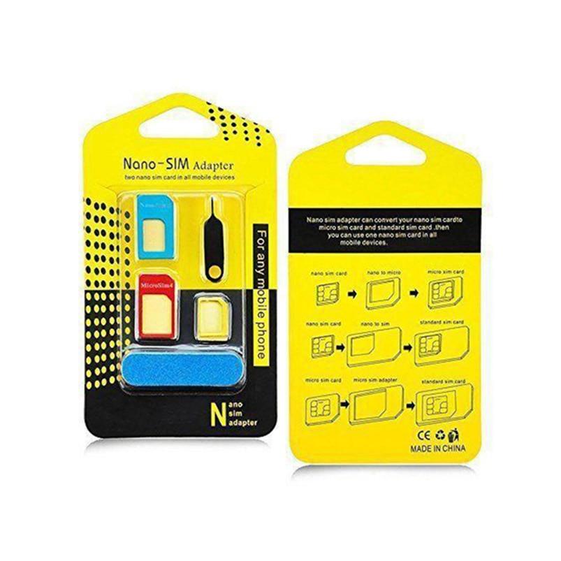 5 in 1 Sim For Huawei nova 2s/Honor 10/Y7 Prime 2018/Y9 2018/Honor 7C Nano Micro Standard Sim Card Adapter abrasive Bar Card Pin