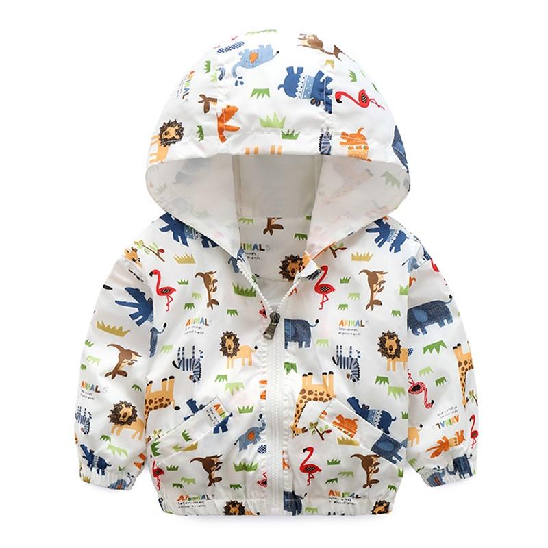 Для маленьких мальчиков Верхняя Куртка Верхняя одежда 2018 осень детская одежда для мальчиков топы с длинными рукавами с капюшоном для мальч...