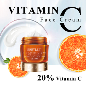 BREYLEE Vitamin C Whitening Facial Cream 20% VC Fade Freckles Remove Dark Spots Melanin Remover Skin Brightening Cream Face Care
