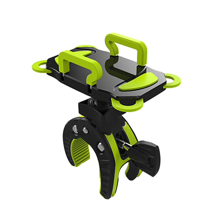 Hot Bike Holder Adjustable Cell Phone GPS Motorcycle Bicycle Handlebar Bike Mount Holder For Universal Black-Green universal tripod mount adapter telescopic cell phone stand holder