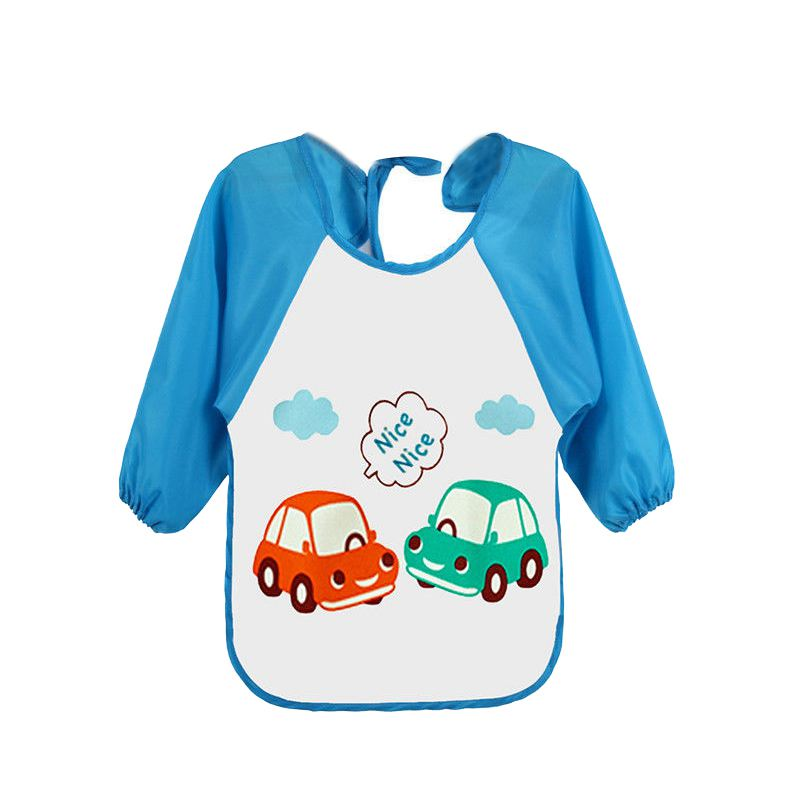 HOT SALE Baby Toddler Waterproof Long Sleeve Children Kids Feeding Art Smock Bib Apron B ...