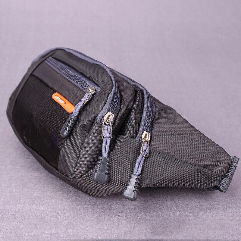 Men's Women's Universal Fanny Pack Sports Waist Bag Large Capacity Waterproof Multi-function Travel Outdoor Nerka Belt Bag
