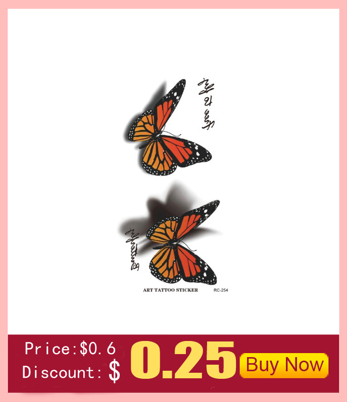 10 PCS Men Women Fake Tattoo sleeve Many cute animals Cat butterfly flower Body Art Flash Waterproof Temporary Tattoos Stickers 31