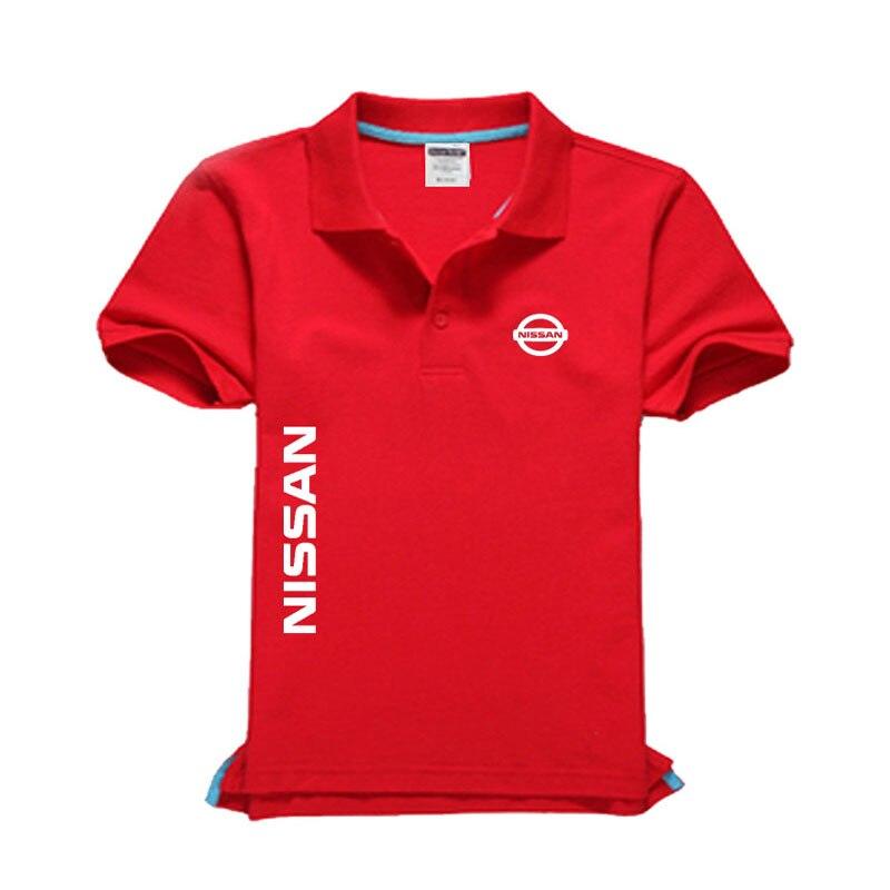 New Nissan logo Men's   Polo   Shirt High Quality Men Cotton Short Sleeve shirt Brands jerseys