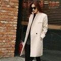 Women's Winter Jackets and Coats Single Button Elegant Warm Women Woolen Coat 2016 Thicken Long Plus Size Women Coat Jacket
