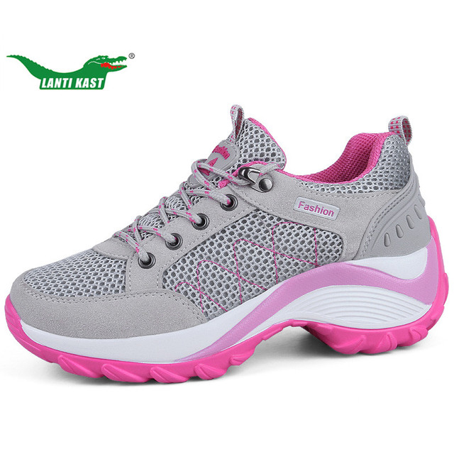 LANTI KAST Summer Donna Hiking scarpe Mesh Mesh scarpe Breathable Wedges Healthy   fa5e56