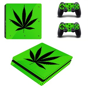 Image 5 - Pure White Green Leaf Weed PS4 Slim Skin Sticker Decal Vinyl for Playstation 4 Console and 2 Controllers PS4 Slim Skin Sticker