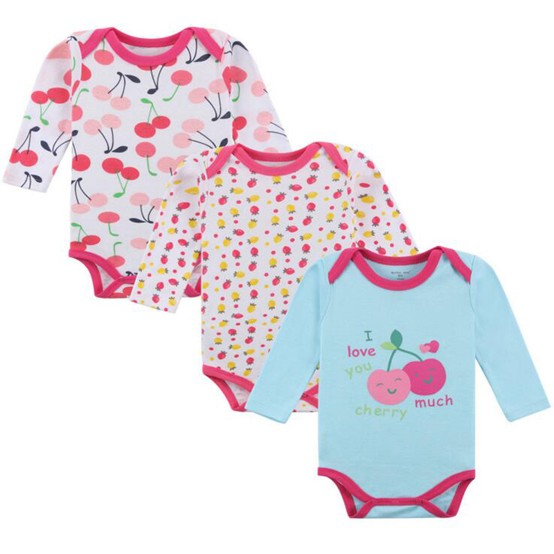 320f8b8fe28 Best buy 3Pcs Baby Bodysuit Autumn Newborn Cotton Body Baby Sleeve  Underwear Next Infant Boy Girl Pajamas Clothes 100% Cotton of homehang  online cheap