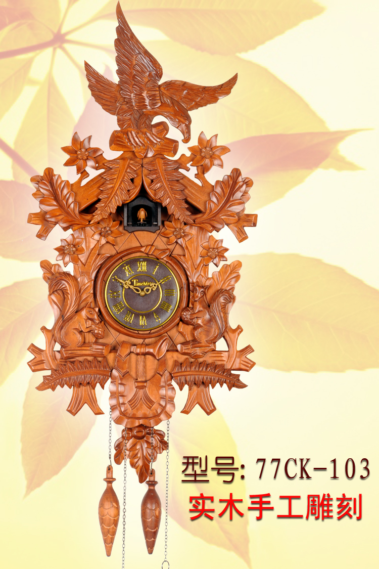 Wohnzimmeruhr Vintage Us 238 97 9 Off Cuckoo Clock Cuckoo Clock Clock Pendulum Control Manual Solid Wood Engraving European Clock Retro Living Room Watch In Wall Clocks