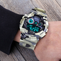 2016 SANDA Brand Wirst watches Army Camouflage Military Watch Led Digital Sports Watches Relogio Masculino Esportivo Clock 289B