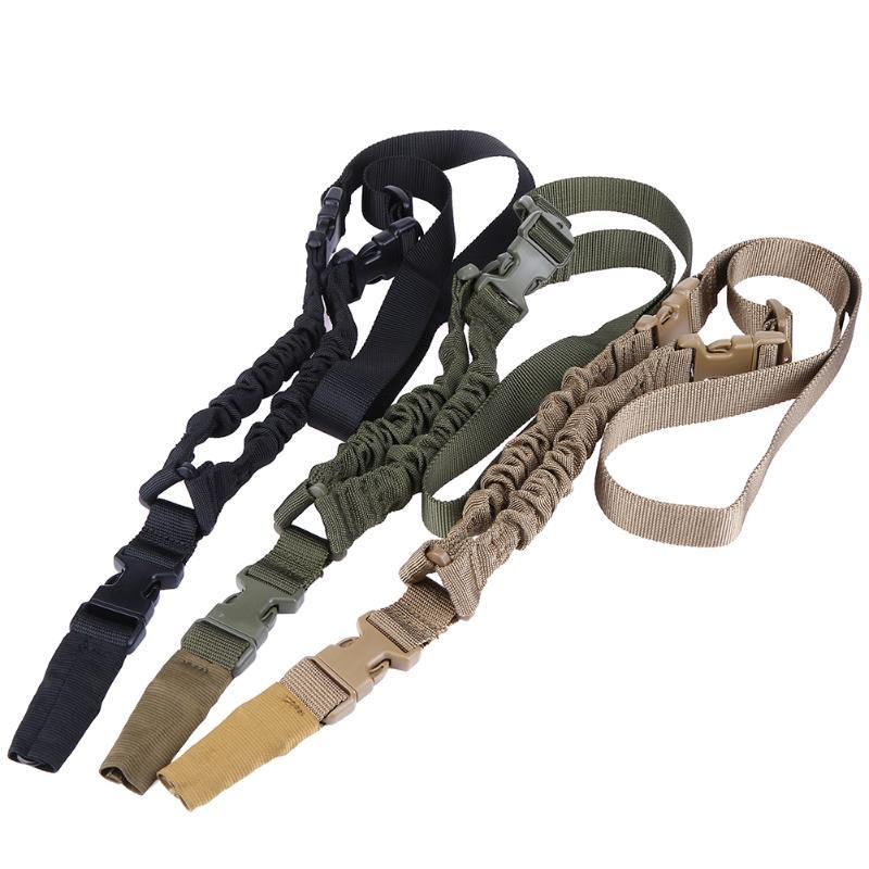 90 cm Pratique HuntingTactical Nylon Single Point Réglable Bungee Fusil Sling Tir Sangle de Sécurité Ceinture avec Crochet En Métal